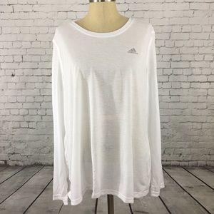 Adidas Ultimate Tee white long sleeve size xlarge